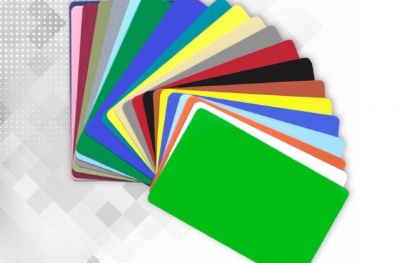 Tarjetas de PVC de colores